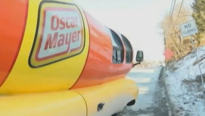 An Oscar Mayer Wienermobile crashed in Pennsylvania on Sunday.