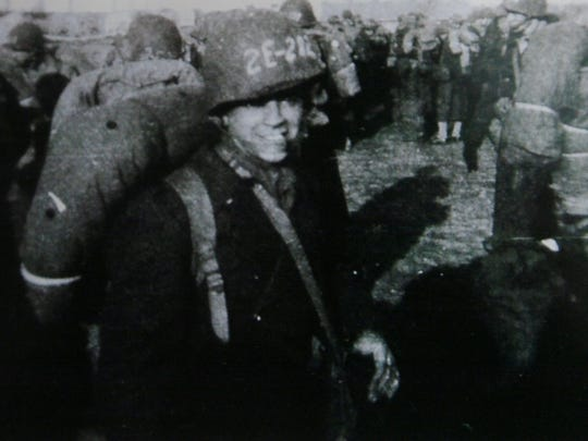 Paul Cicchini at Camp Lee in Virginia before shipping out to Europe in 1943.