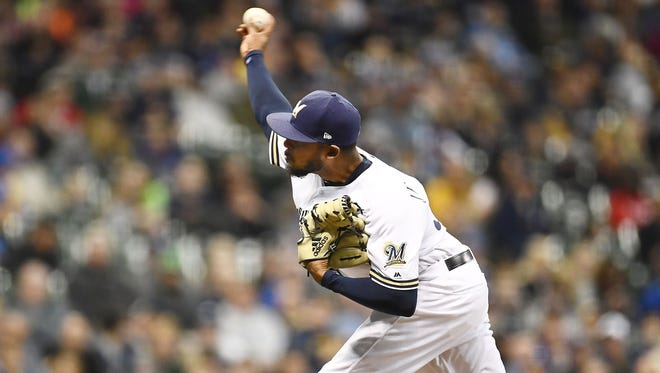 Jeremy Jeffress pitched two scoreless innings Tuesday night against the Reds, the ninth time he's blanked an opponent in 10 appearances.