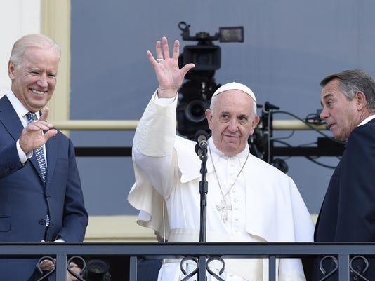Pope Francis, Joe Biden, John Boener