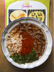 Traditional birria is a Mexican stew, typically prepared