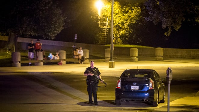Police from several agencies responded Thursday evening to reports of a gunman on Ball State University's campus. After a two hour search nothing was found and the all clear was given.