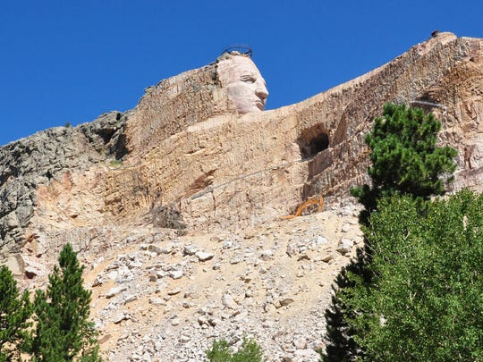 The memorial to the Sioux warrior Crazy Horse looks