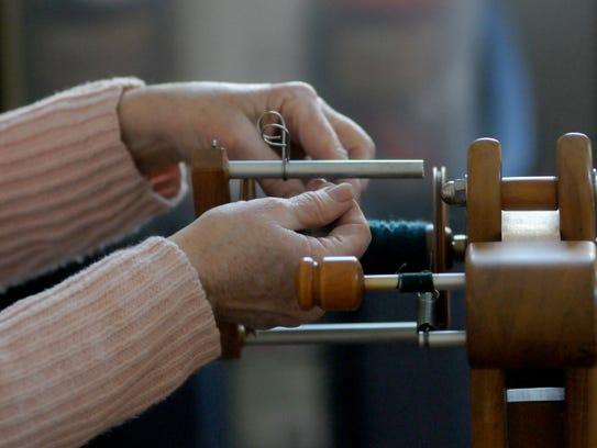 Spinning and weaving demonstrations at Malabar Farm