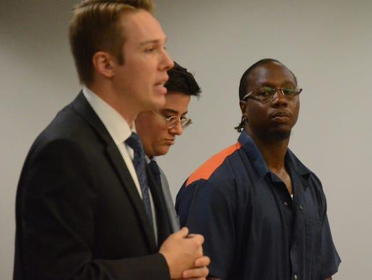 Assistant Calhoun County Prosecutor Chris Baldwin speaks