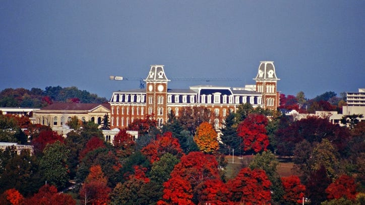 Old Main on the University of Arkansas at Fayetteville campus.