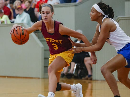 Carmel's Amy Dilk (3) is seen during the High School