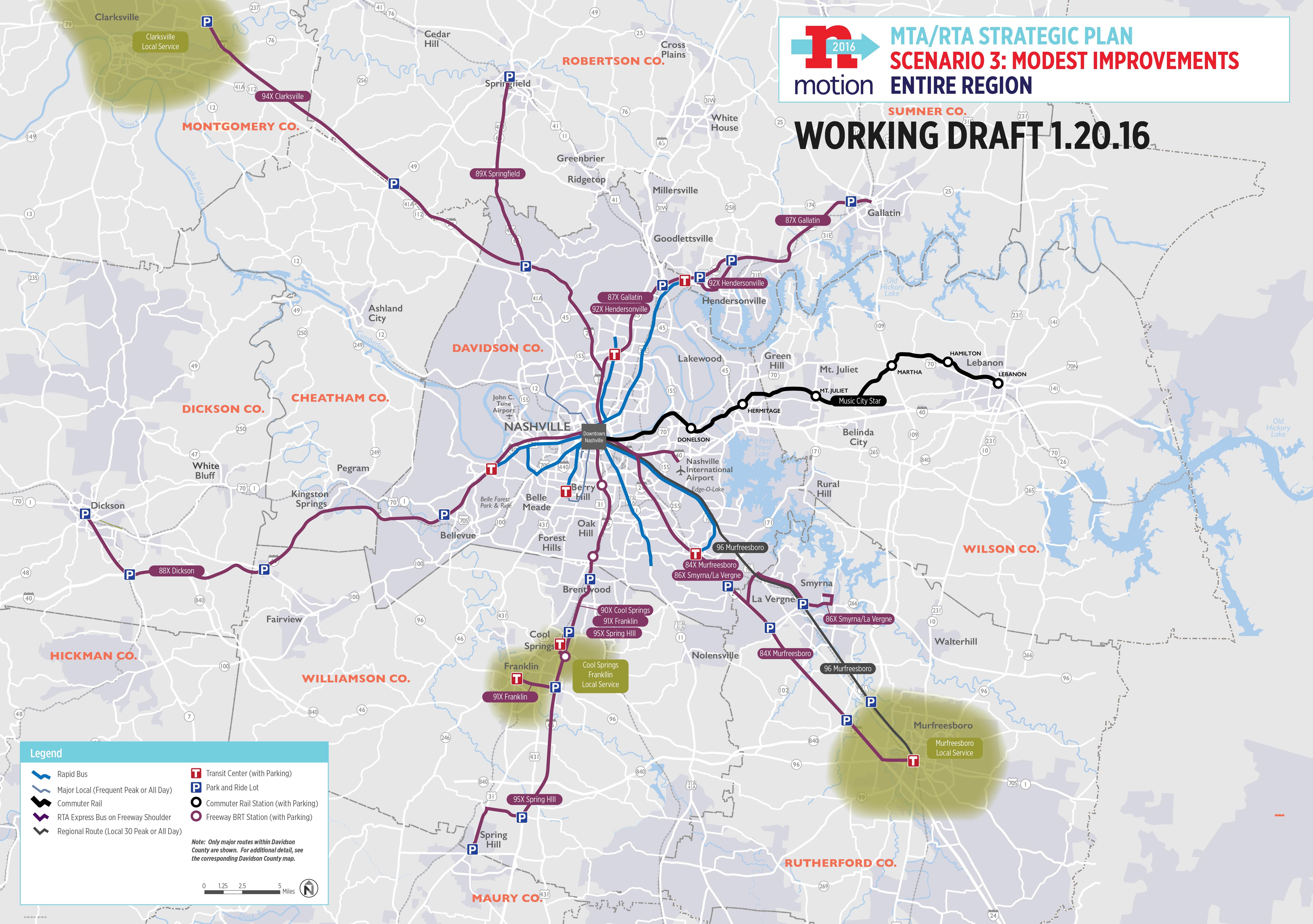 Nashville transit options unveiled Go big or small