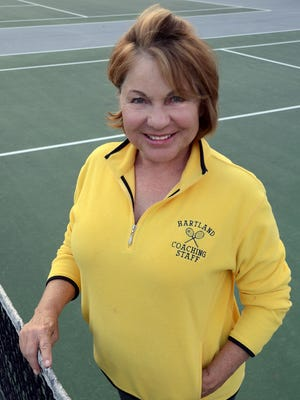 Judy Jagdfeld is coaching in her last regional today. She's coached the Eagles girls team since 1986.