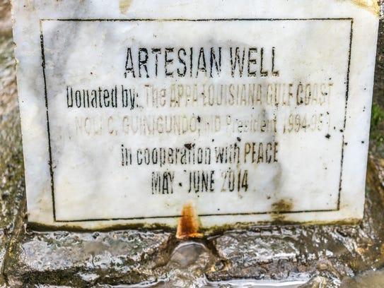 Artesian Well Plaque