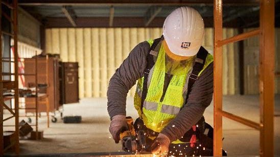 An employee works on a project with EV Construction of Holland. The company, which employs more than 150 people across the country, is celebrating 5,000 hours -- or nearly 14 years -- without significant injury.