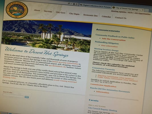 Generic DHS website shot