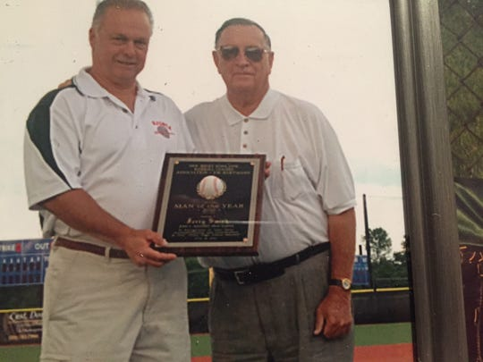 The New Jersey State Baseball Coaches Association honored Jerry Smith as Man of the Year for his contributions and dedication to the sport.