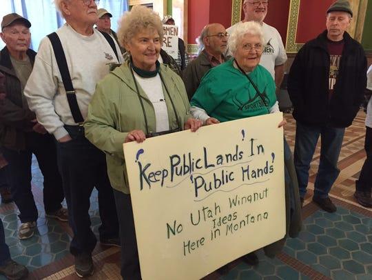 Early in the Montana legislative session, Maxine Baker
