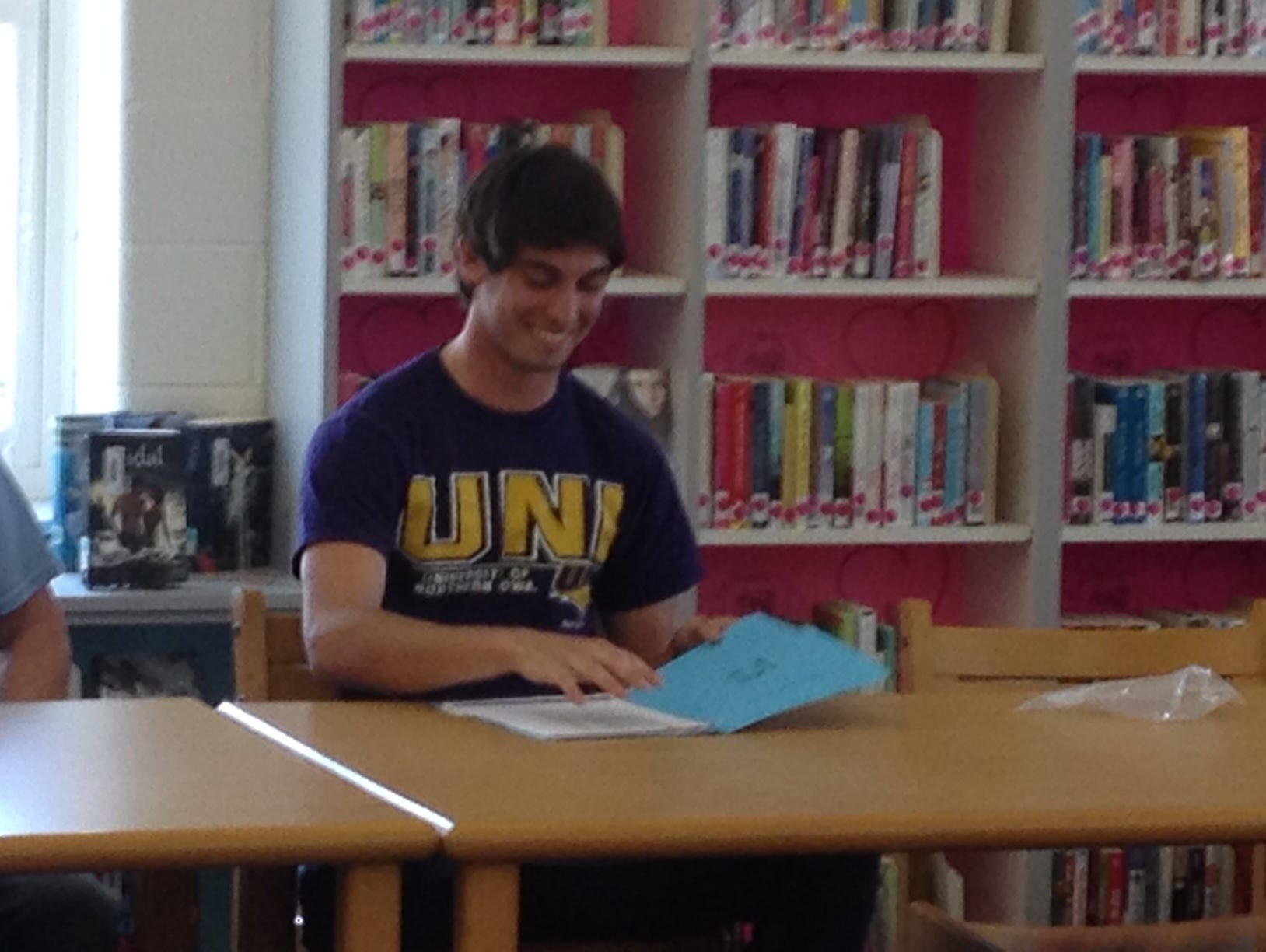 Solon senior Connor Ham signed a National Letter of Intent with Northern Iowa on Friday. He will participate in both football and track for the Panthers.