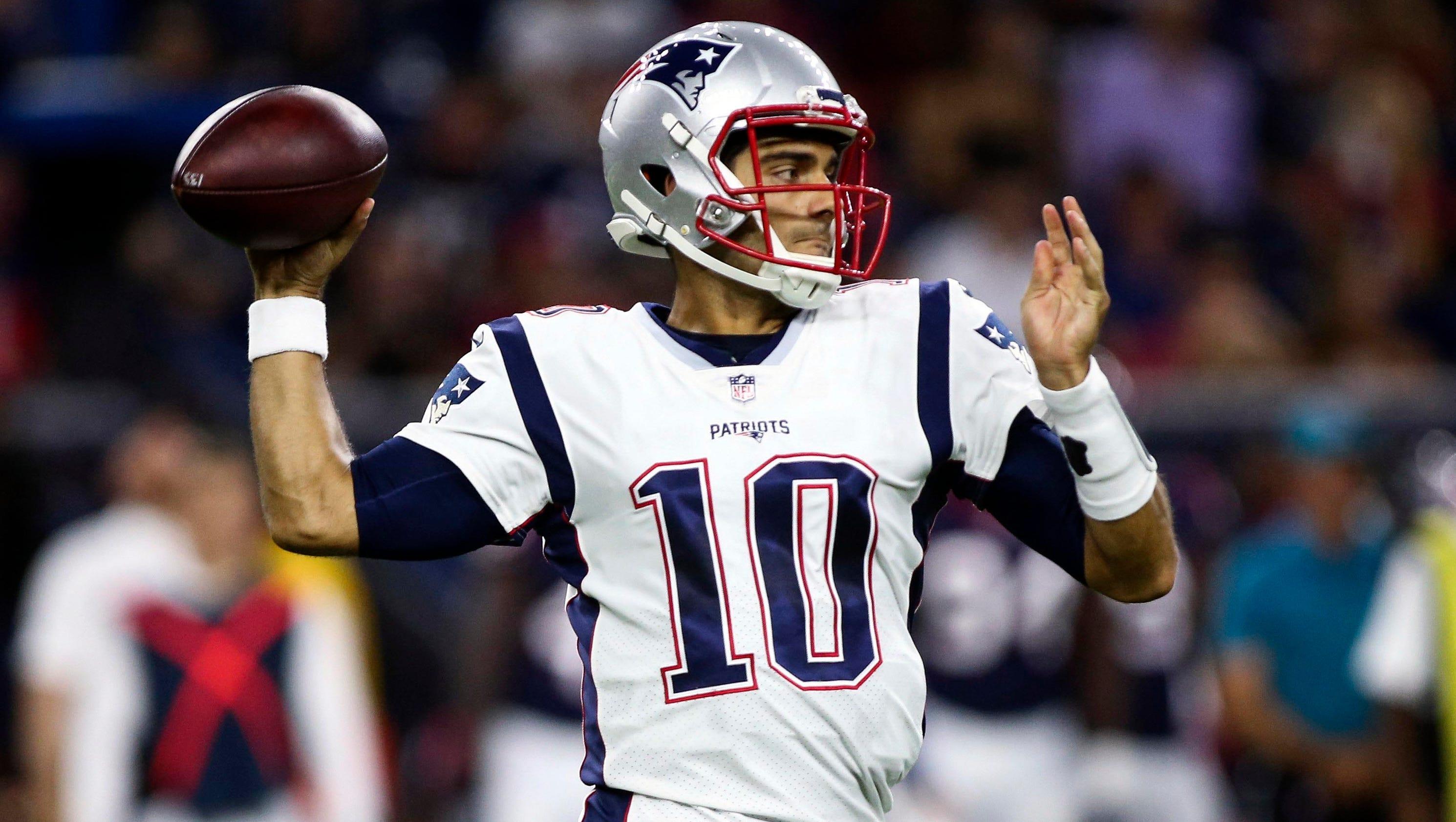 Ranking NFL backup quarterbacks: Patriots Jimmy Garoppolo tops list