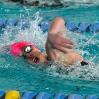 Scotch Plains-Fanwood's Sarah Davis competes in the 200 freestyle during the North 2 Group B sectional final on Thursday at the Raritan Bay YMCA.