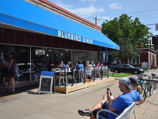The Bluebird Diner sits around the corner from Hamburg Inn No. 2 in Iowa City.
