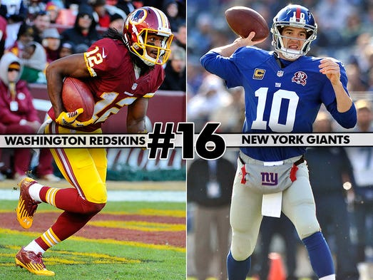 16. Redskins at Giants: Staying out of the NFC East