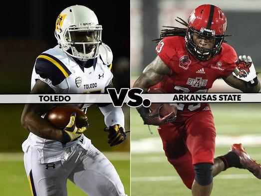 Jan. 4 — GoDaddy Bowl in Mobile, Ala.: Toledo vs. Arkansas