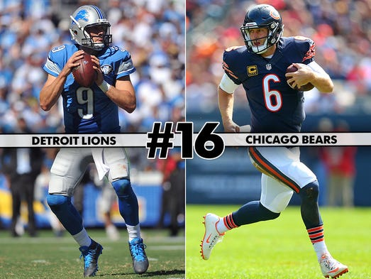 16. Lions at Bears: There's not much reason for excitement