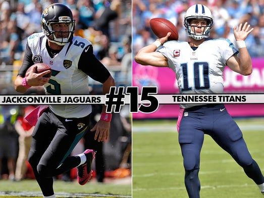 15. Jaguars at Titans - Jacksonville's best opportunity