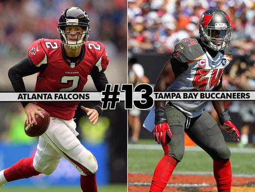 13. Falcons at Buccaneers: Tampa Bay let last meeting