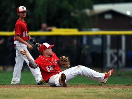8/7/2017 - New Jersey's R.J. Vashey (11) throws out