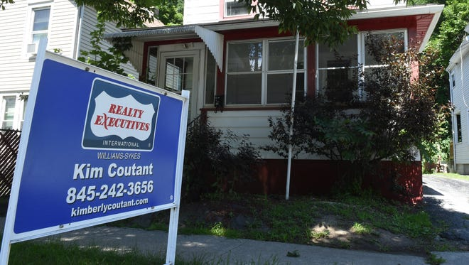 A house for sale at 54 Taylor Avenue in the City of Poughkeepsie on Monday.