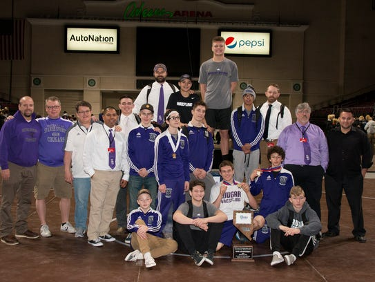 Spanish Springs won the 4A state team wrestling title