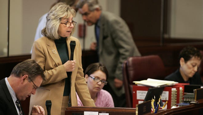 A file photo of U.S. Rep. Dina Titus, D-Nevada., who was the target of threatening voicemails from a Las Vegas man. Louis Damato, 47, was indicted May 19, 2020, by a federal grand jury for allegedly making threats to attack and murder Titus.