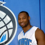 Orlando Magic guard Willie Green poses at media day on Sept. 29, 2014.