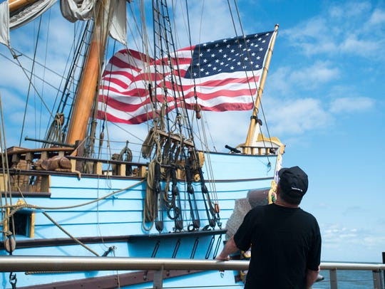Robert Corter, of New Jersey, in 2014 gets a look at tall ship Kalmar Nyckel Saturday, Aug. 23 in Lewes.