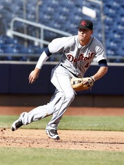 Tigers prospect JaCoby Jones is playing at Triple A Toledo where he is hitting .333.