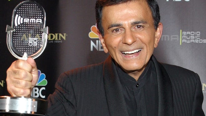 In this Oct. 27, 2003, file photo, Casey Kasem poses for photographers after receiving the Radio Icon award during The 2003 Radio Music Awards in Las Vegas. Kasem passed away on Sunday morning.