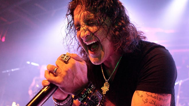 Singer Scott Stapp, of the band Creed, performs solo in concert at Soundstage in Baltimore in April 2014.