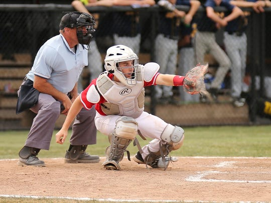Receiving a pitch for the Canton Chiefs during Tuesday's