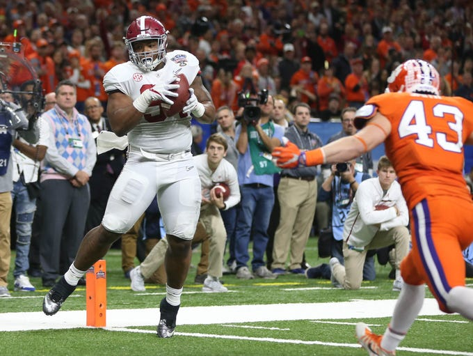 Jan 1, 2018; New Orleans, LA, USA; Alabama defensive