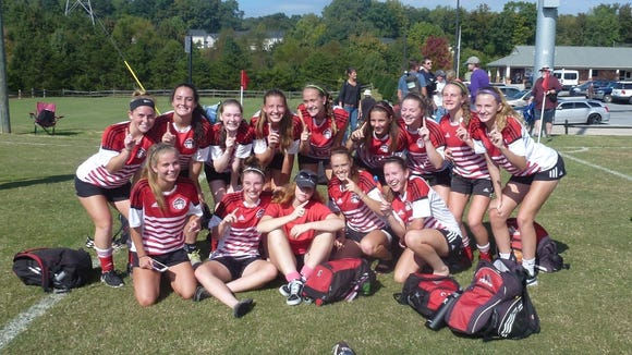 The 01 HFC Red G won the U16 Girls' North Carolina Youth Soccer Association (NCYSA) Premier League
