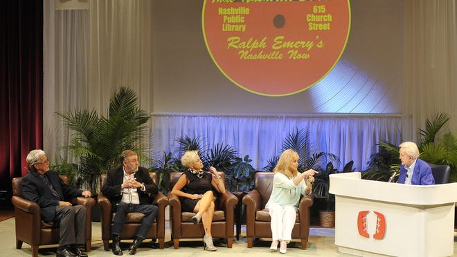 "Con Hunley, Ray Stevens, Lorrie Morgan and Barbara Mandrell reminisce with Ralph Emery as the Nashville Public Library commemorates Ralph Emery's ""Nashville Now"" on Sunday."