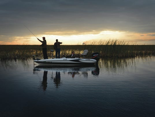 2. Bass fishing at dawn, Lake Okeechobee (Peter W. Cross)