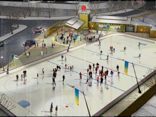 An outdoor ice rink could be installed at Valley View Park.