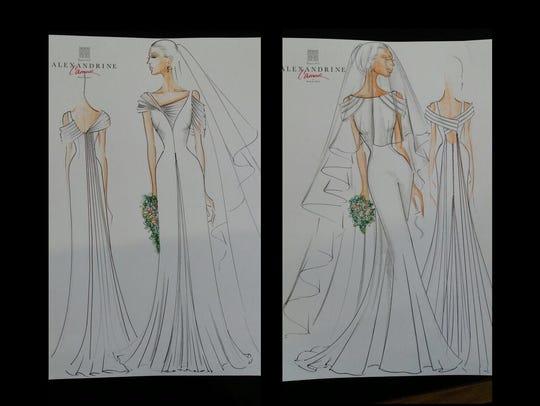Maison Alexandrine wedding dresses, designed for Lea