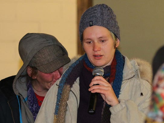 No longer homeless Coco Cunningham tearfully reads