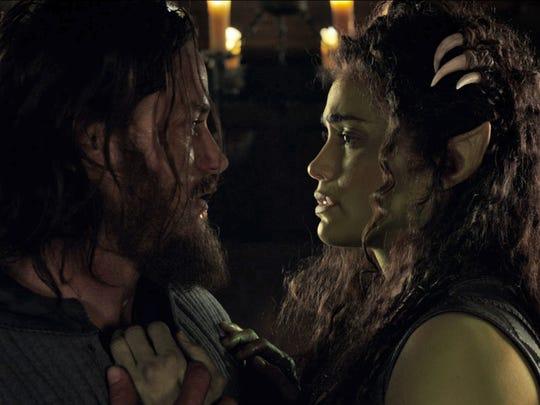 Commander Anduin Lothar (Travis Fimmel) fights a growing
