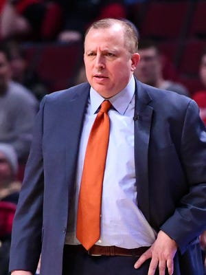 Timberwolves head coach Tom Thibodeau during the first half at the United Center.