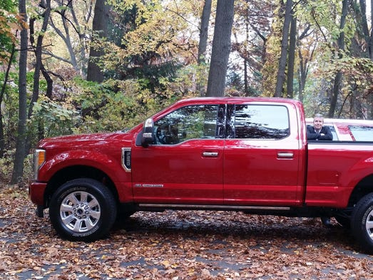 "At 6'8"" tall, the 2017 Ford F-250 Superr Duty makes"