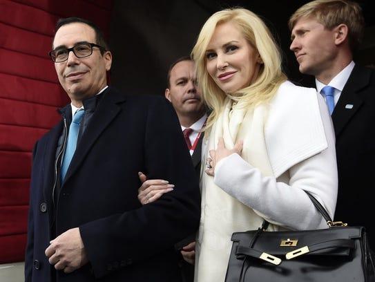 Treasury Secretary Steve Mnuchin and Louise Linton
