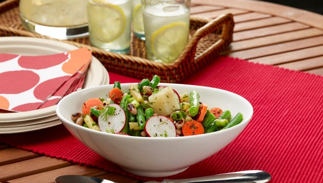 """Bean and Potato salad with Fresh Herbs recipe from """"Flour, Too"""" cookbook by Joanne Chang, pastry chef and owner of Flour Bakery + Cafes in the Boston area"""
