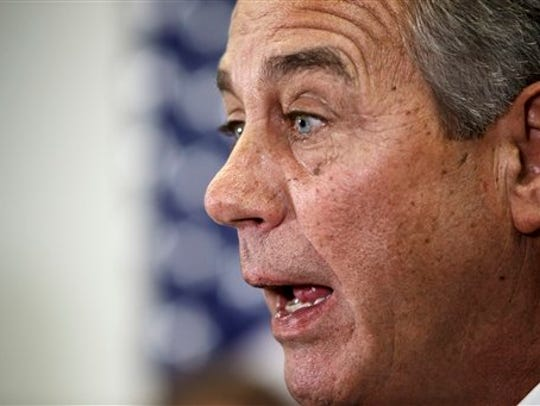 House Speaker John Boehner of Ohio says Senate Democrats